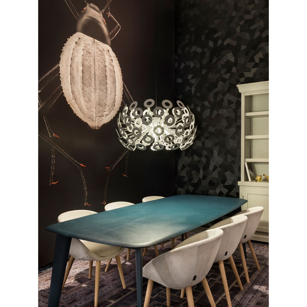 Love Dining Chair & Tapered Table & Leuchte Dandelion