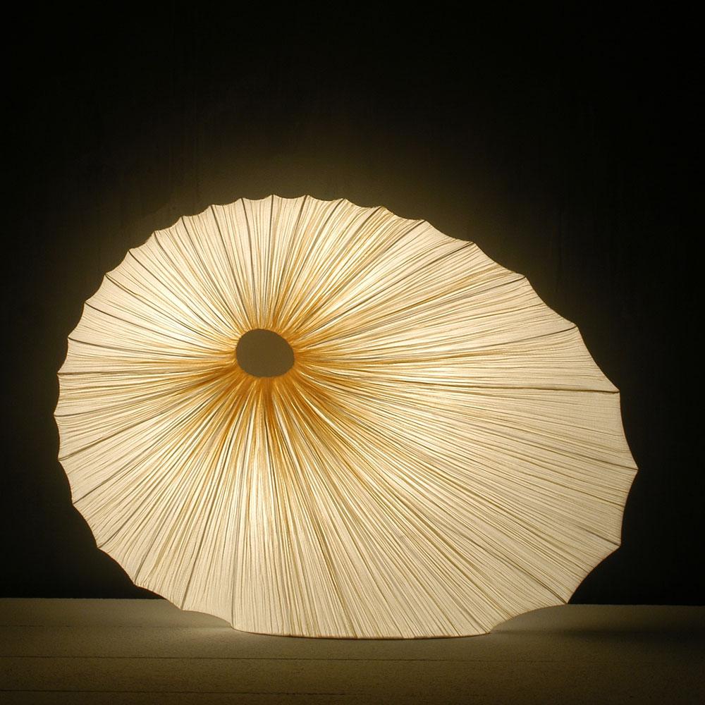 Bodenleuchte Sikus - Farbe gold/ mandelweiss