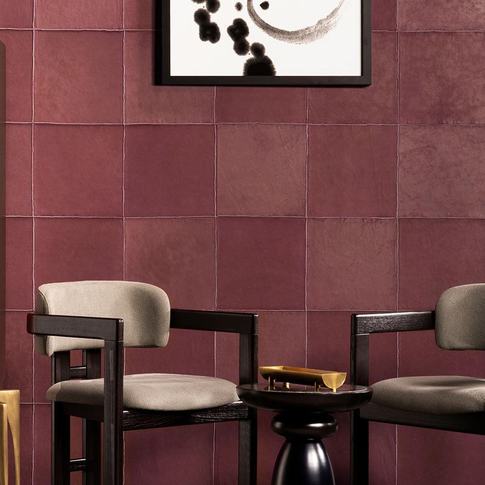 Arte - Leder-Wandbekleidung Aspect - Farbe 33540 Raspberry  - Raumansicht