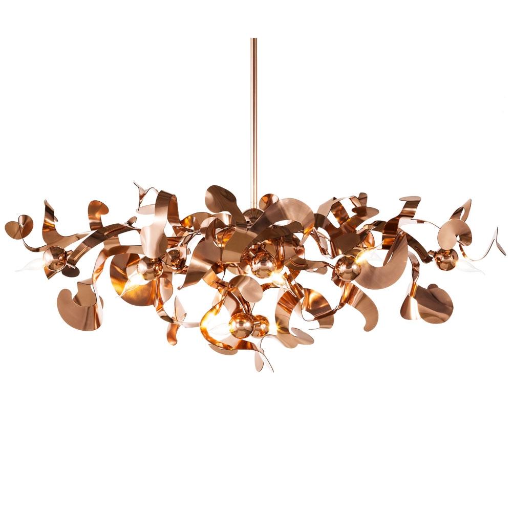 Brand van Egmond - Kelp Chandelier Oval - Farbe Kupfer