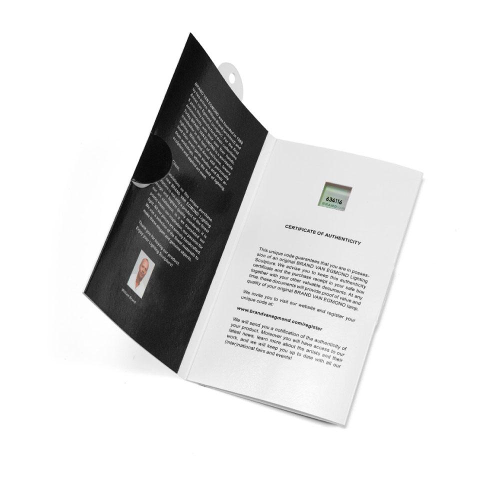 Brand van Egmond - Zertifikat