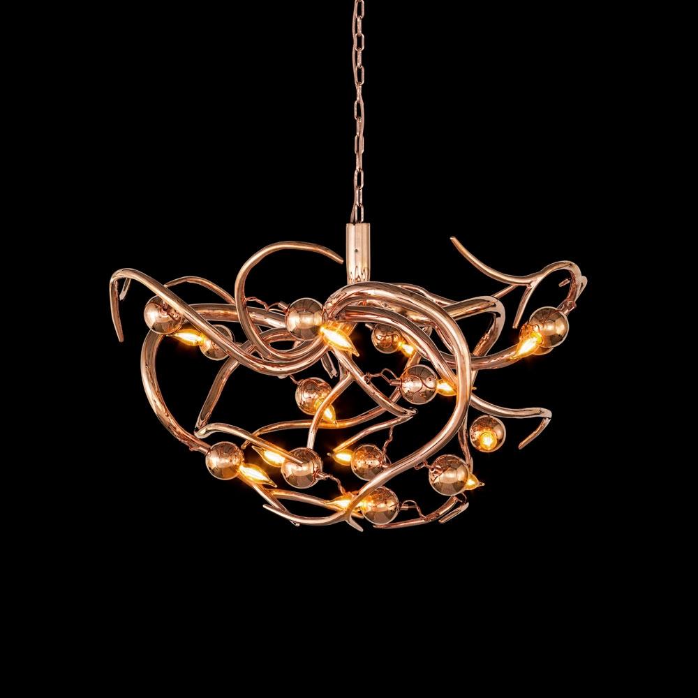 Brand van Egmond - Eve Chandelier Round - Kupfer