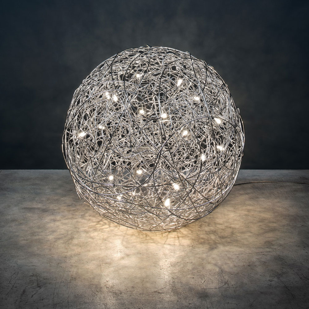 Bodenleuchte Fil de Fer F - LED - alu
