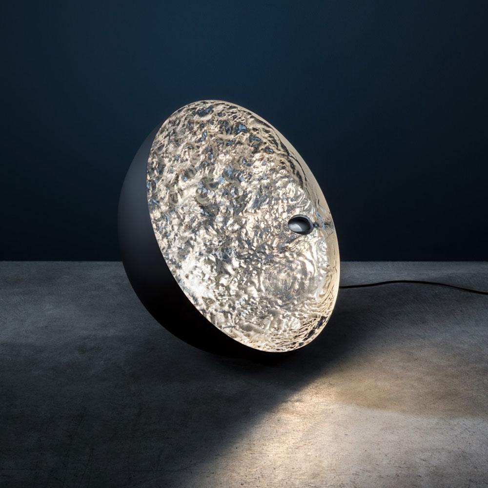 Bodenleuchte Stchu-Moon 01 - silber - Ø 40 cm