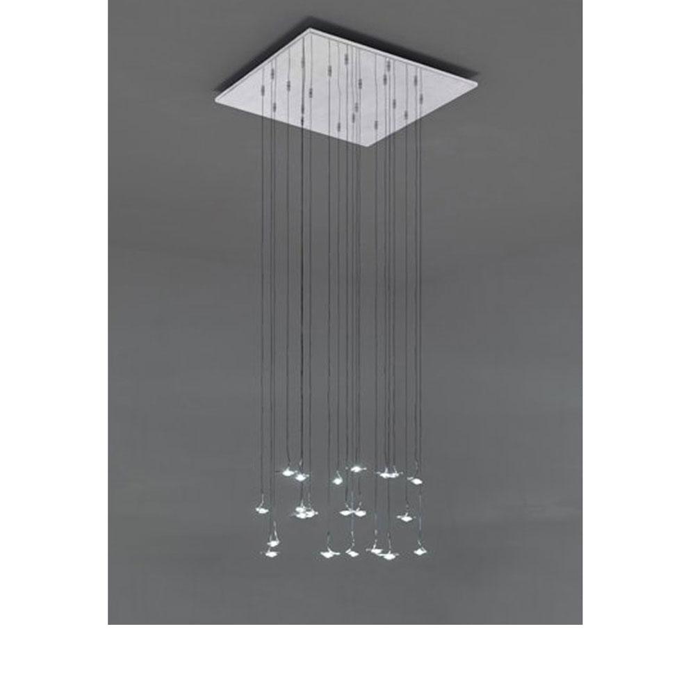 Jackie O Chandelier - Metallplatte 60x60cm - 20 LEDs
