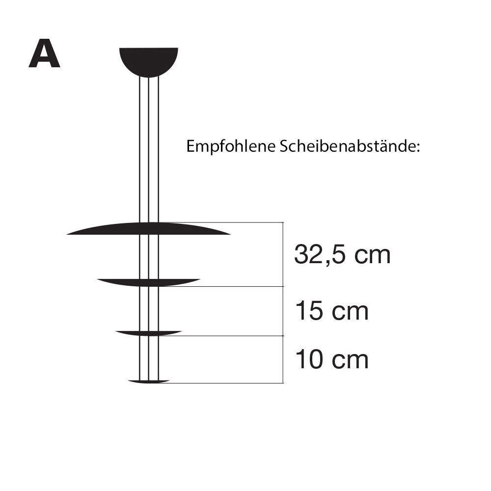 Macchina della Luce Mod. A - Scheibenabstände