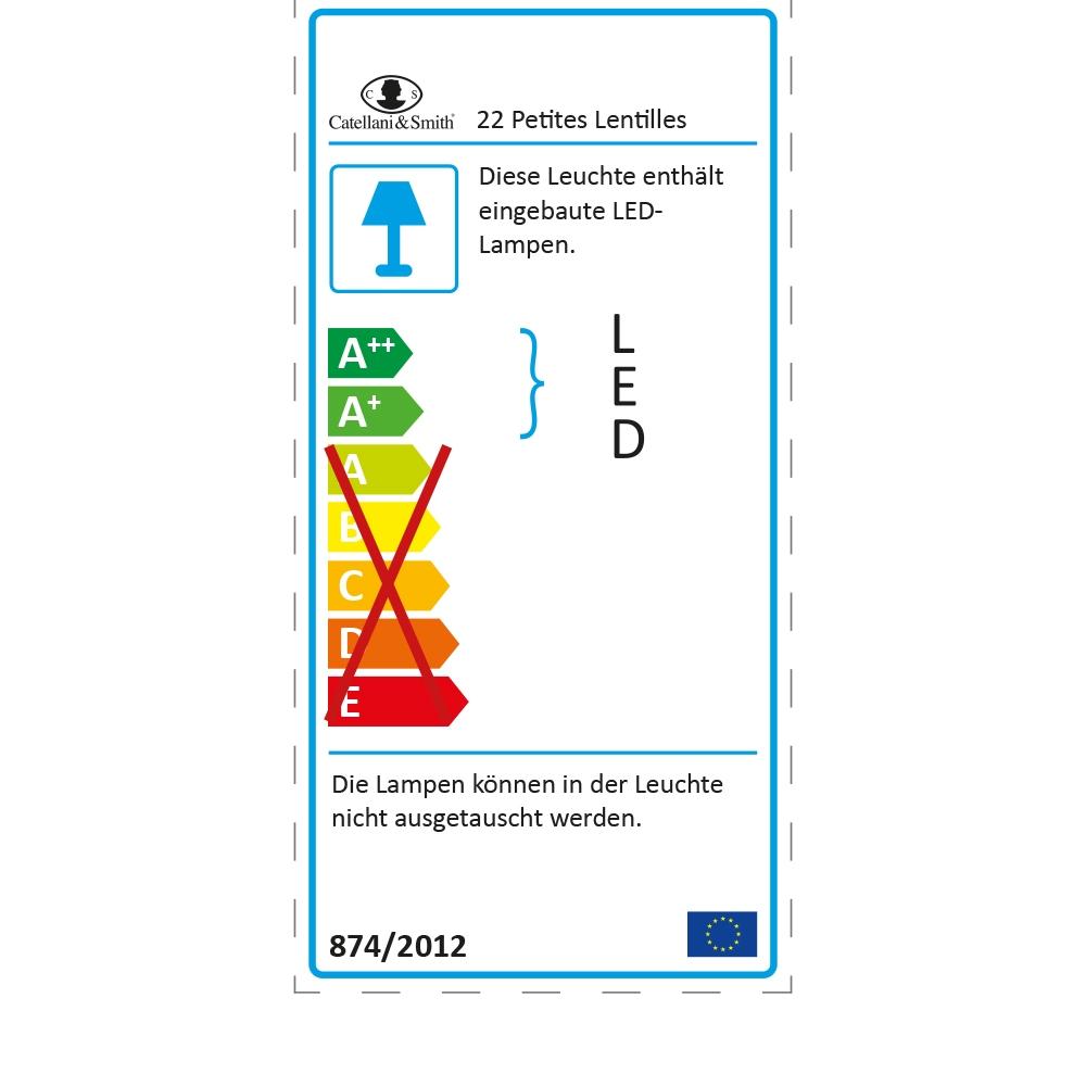 Catellani & Smith Hängeleuchte 22 Petites Lentilles - EU Label