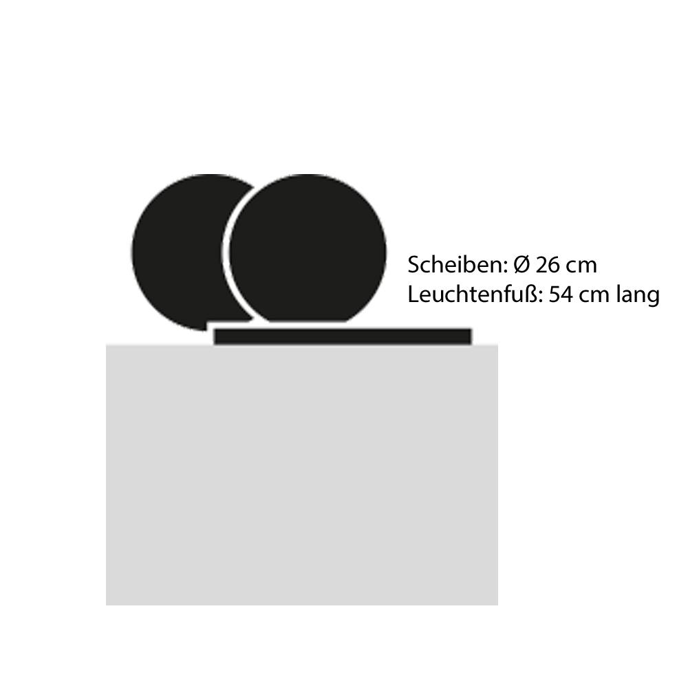 Catellani & Smith Tischleuchte Alchemie T - Abmessungen
