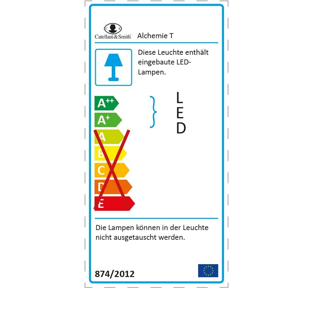 Catellani & Smith Tischleuchte Alchemie T - EU Label