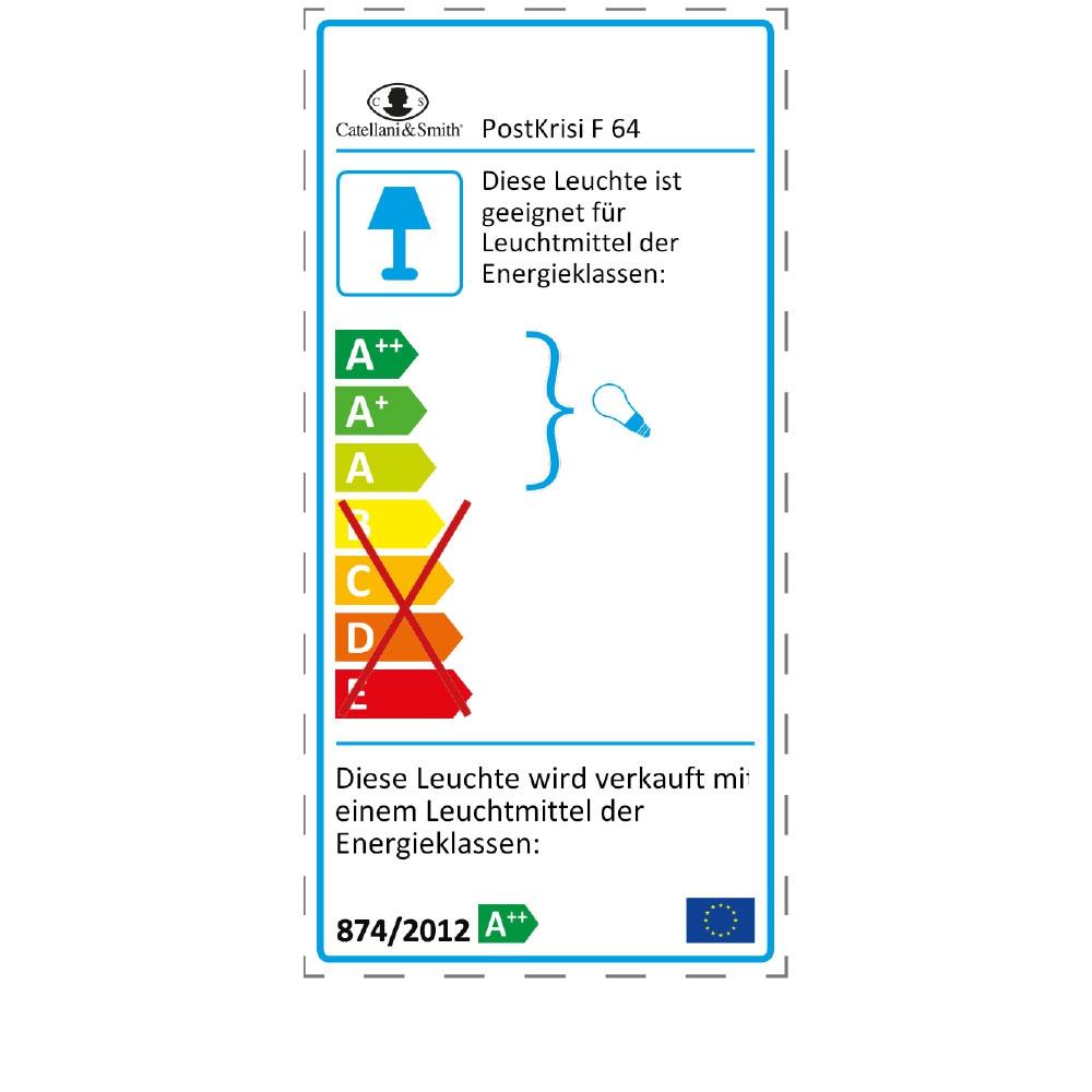 Stehleuchte PostKrisi F 64 - EU Label