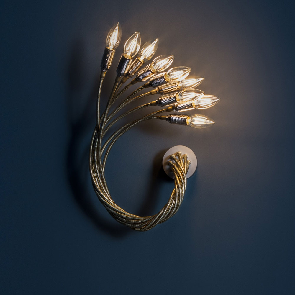 Turciù 9 - Wall Lamp - Messing