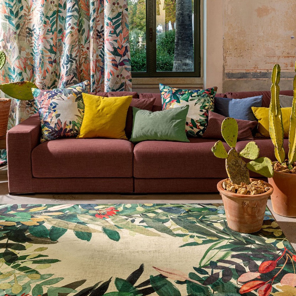 Christian Fischbacher Teppich Estival - Farbe Caliente