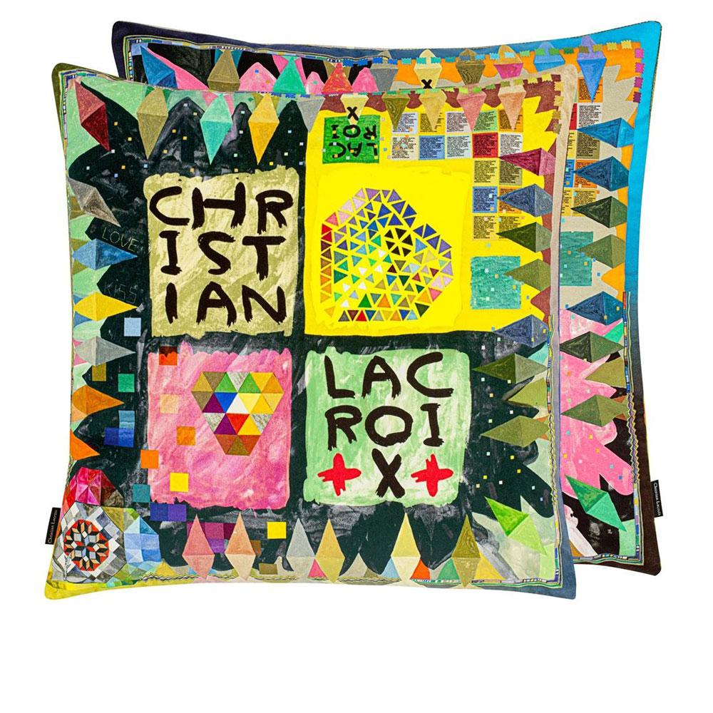 Christian Lacroix Kissen Arlecchino Wood Multicolore