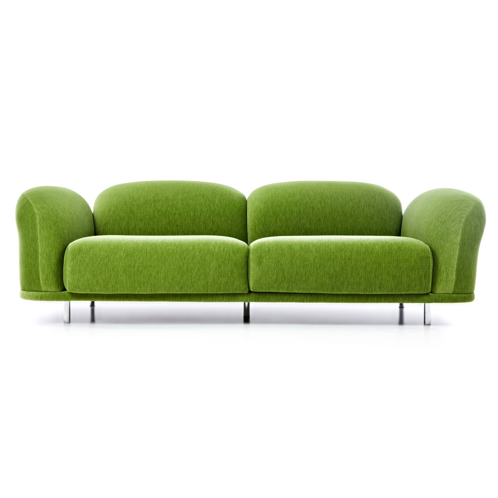 Moooi Cloud Sofa - Bezugsstoff Velour Moss