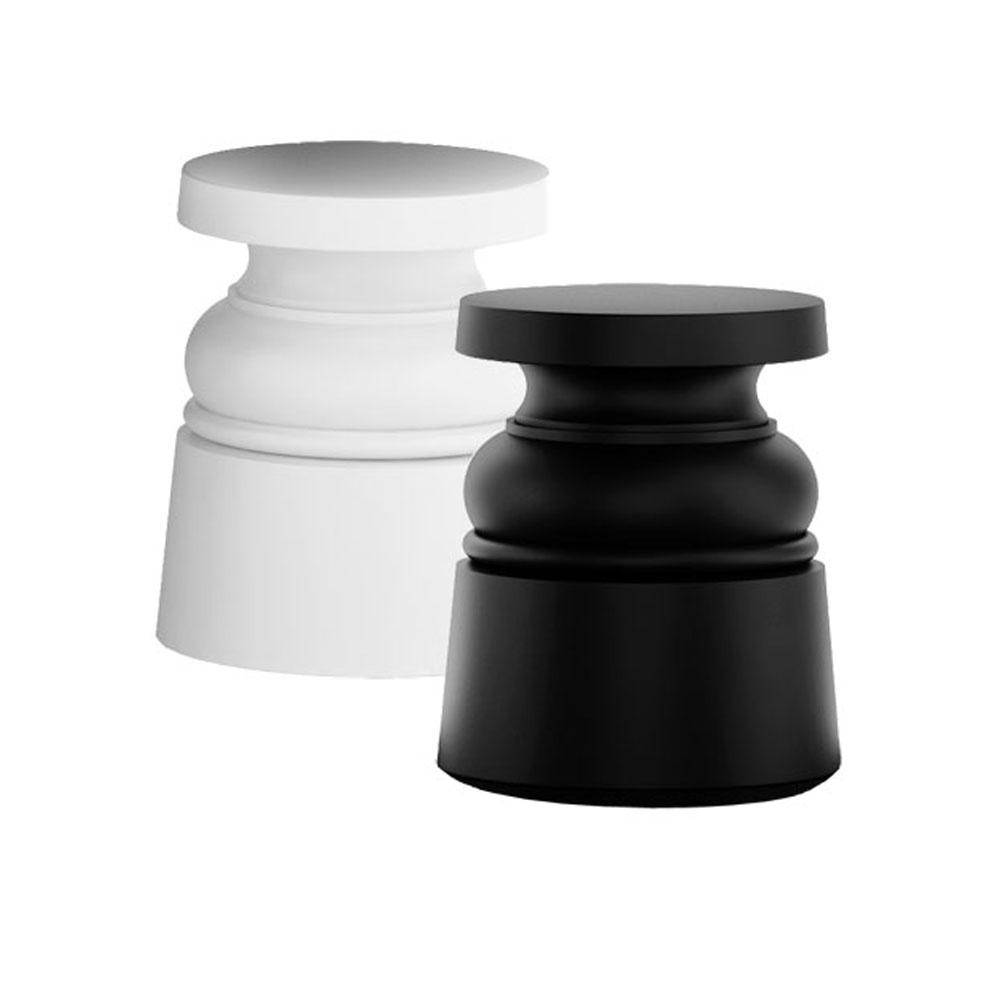 Container Stool New Antiques - weiß & schwarz