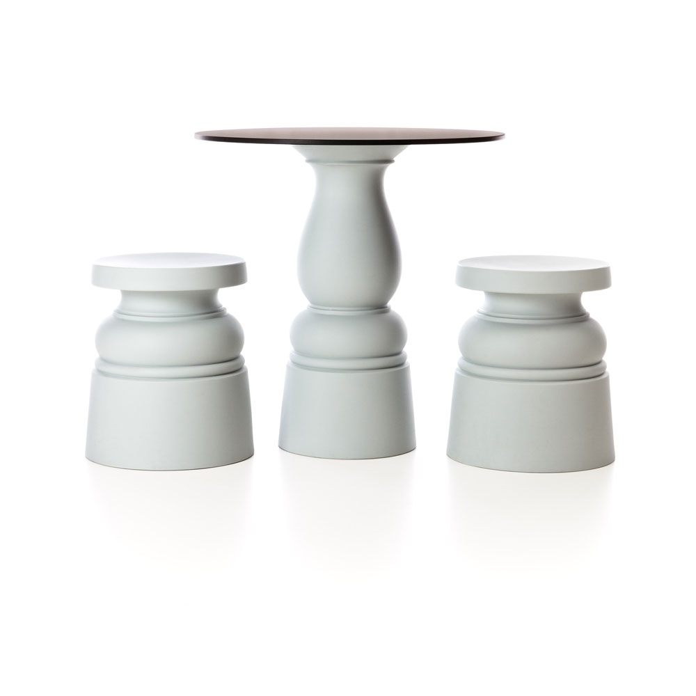 Container Stool & Table New Antiques - weiß
