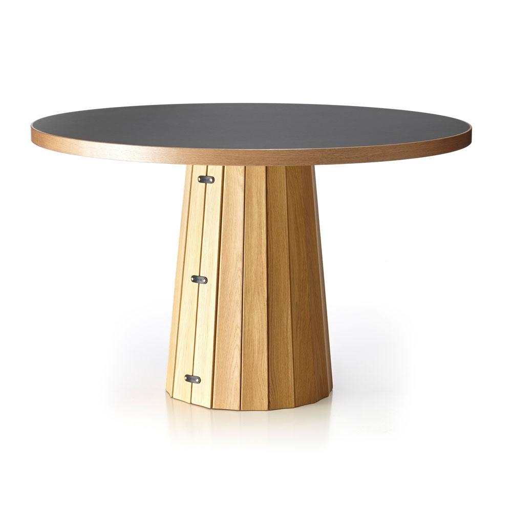 Container Table Top Linoak pewter - Holzverkleidung geölt