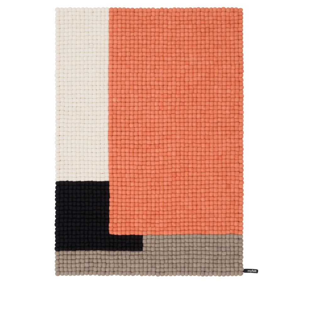 Cube - Lachsrot - 90x130 cm