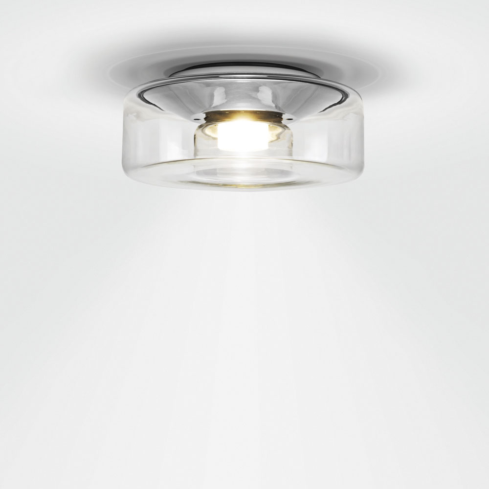 Curling Ceiling - Glasschirm glasklar