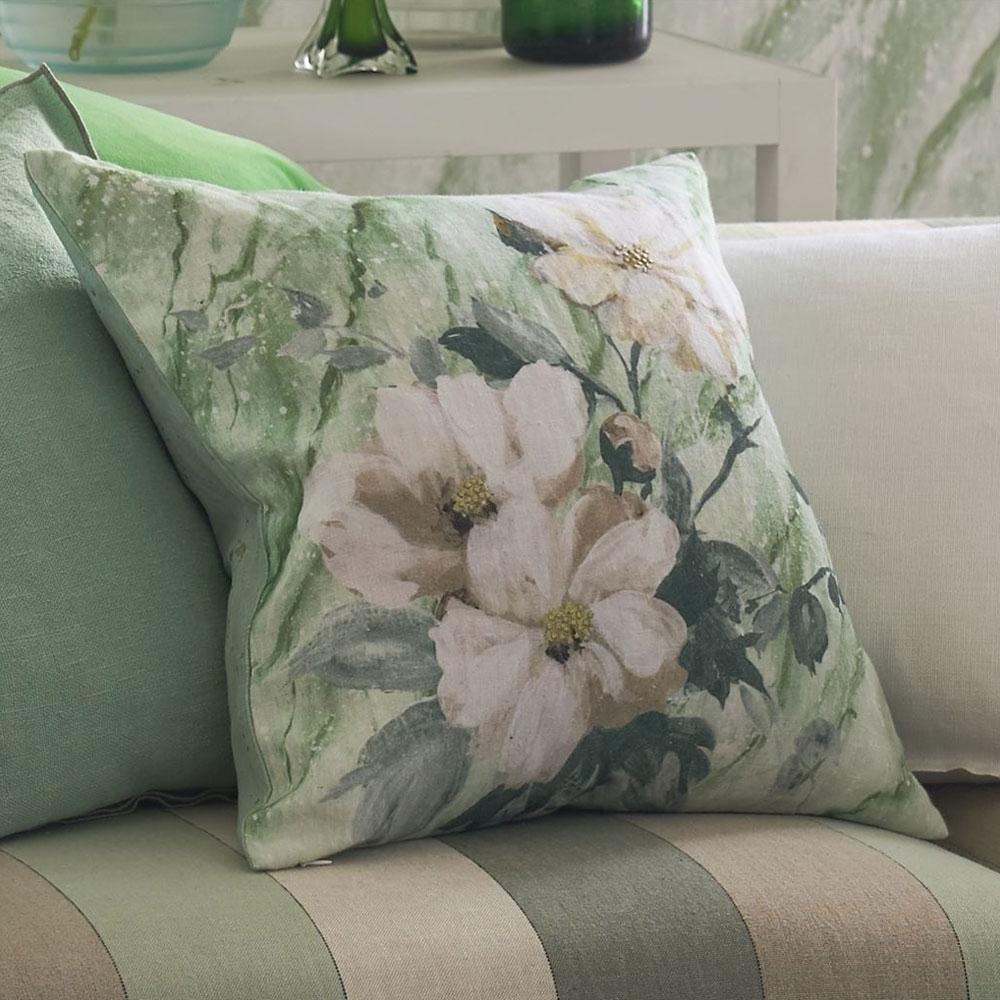 Designers Guild Kissen - Carrara Fiore - Verde