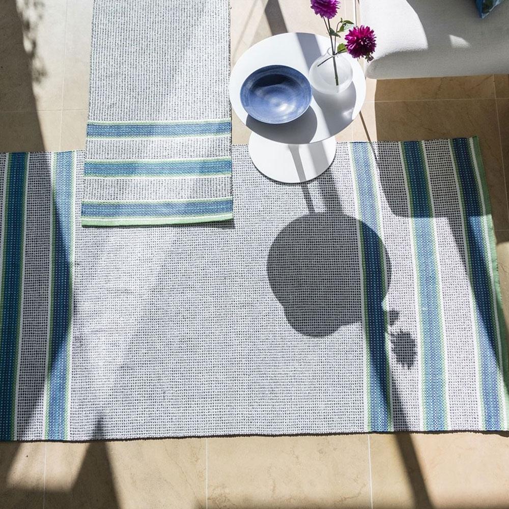 Designers Guild Outdoor/ Indoor Teppich Pompano Cobalt