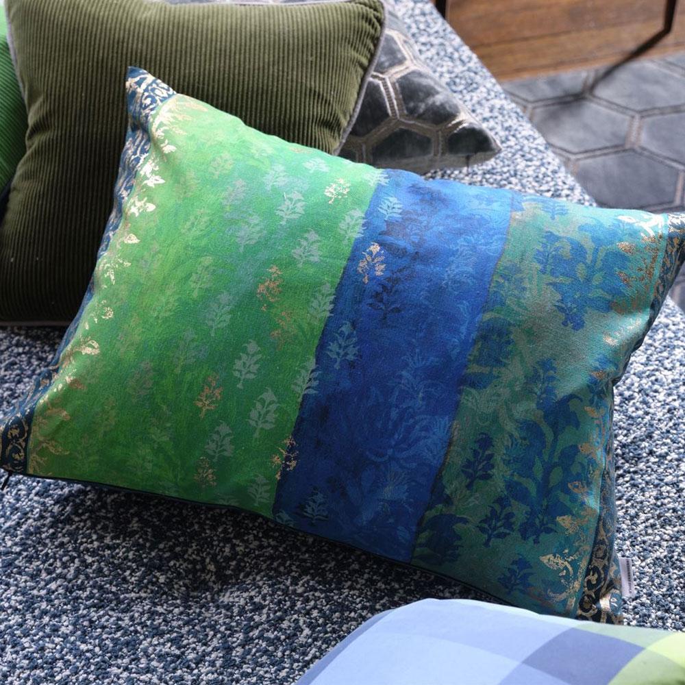 Designers Guild Kissen Kasavu - Farbe Emerald
