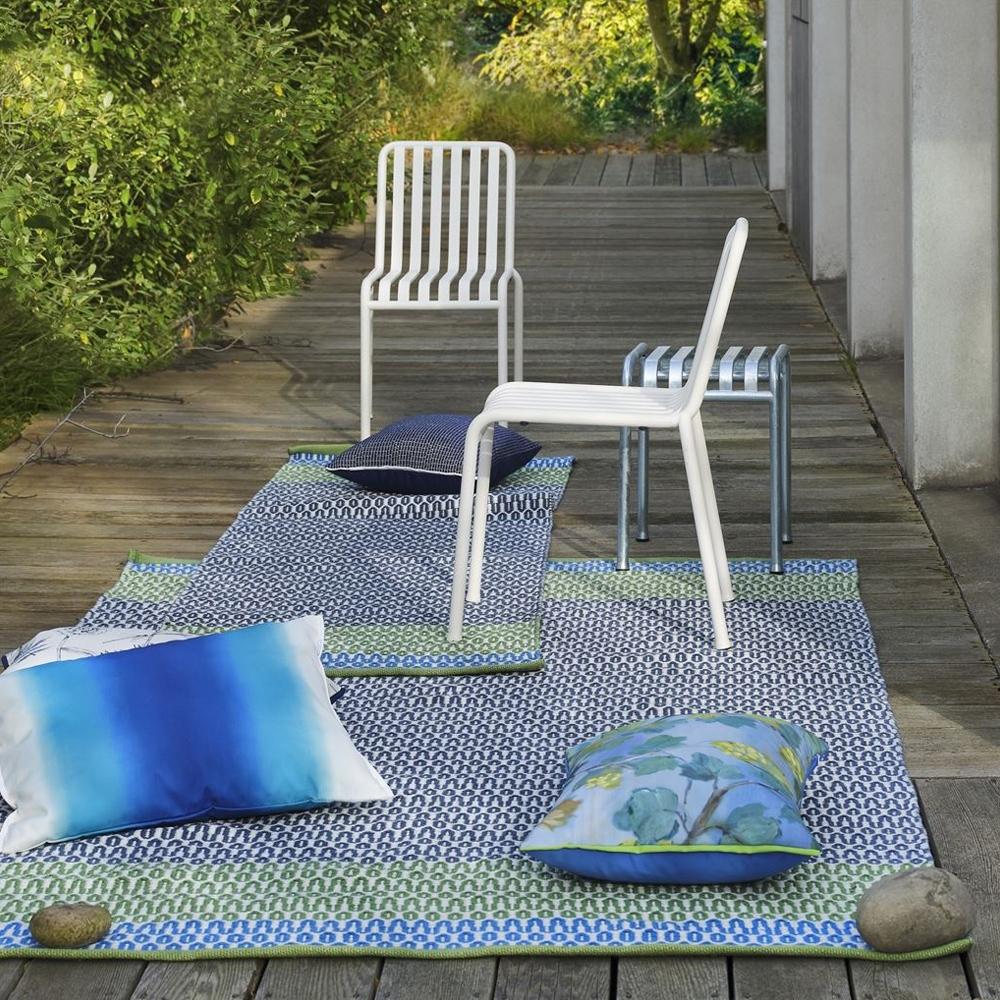 Designers Guild Indoor/ Outdoor Teppich Cortez Cobalt