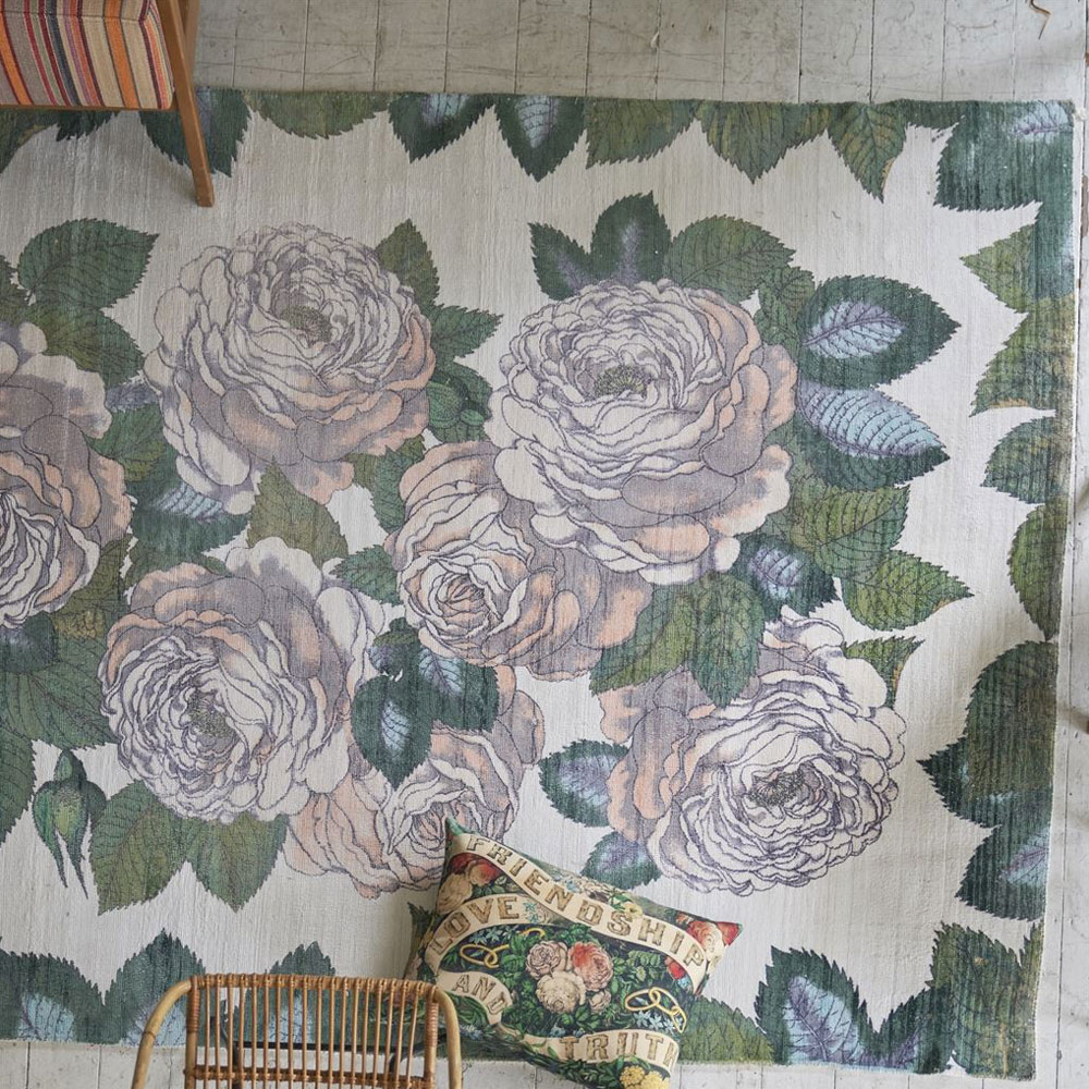 John Derian Teppich The Rose Sepia - Detailansicht