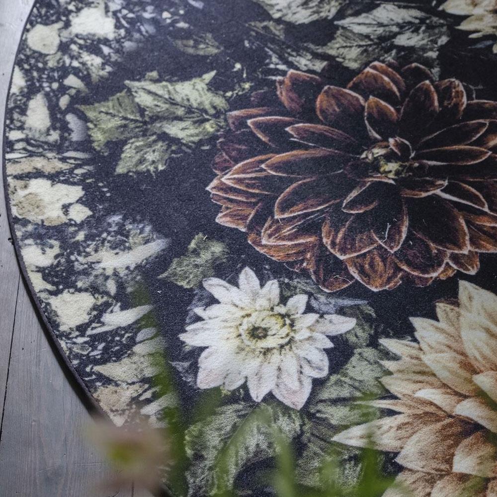 Designers Guild Teppich Dahlia Noir Slate - Detailansicht