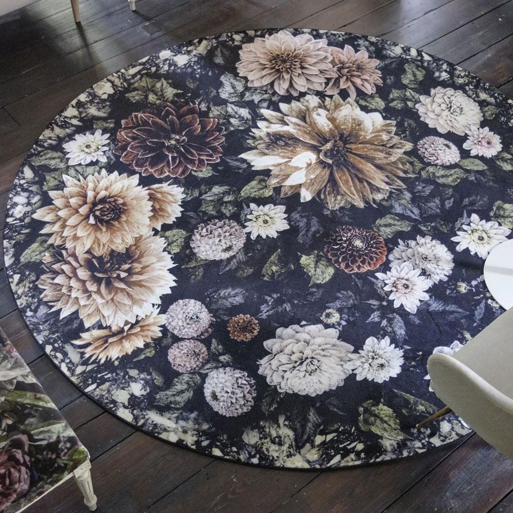 Designers Guild Teppich Dahlia Noir Slate