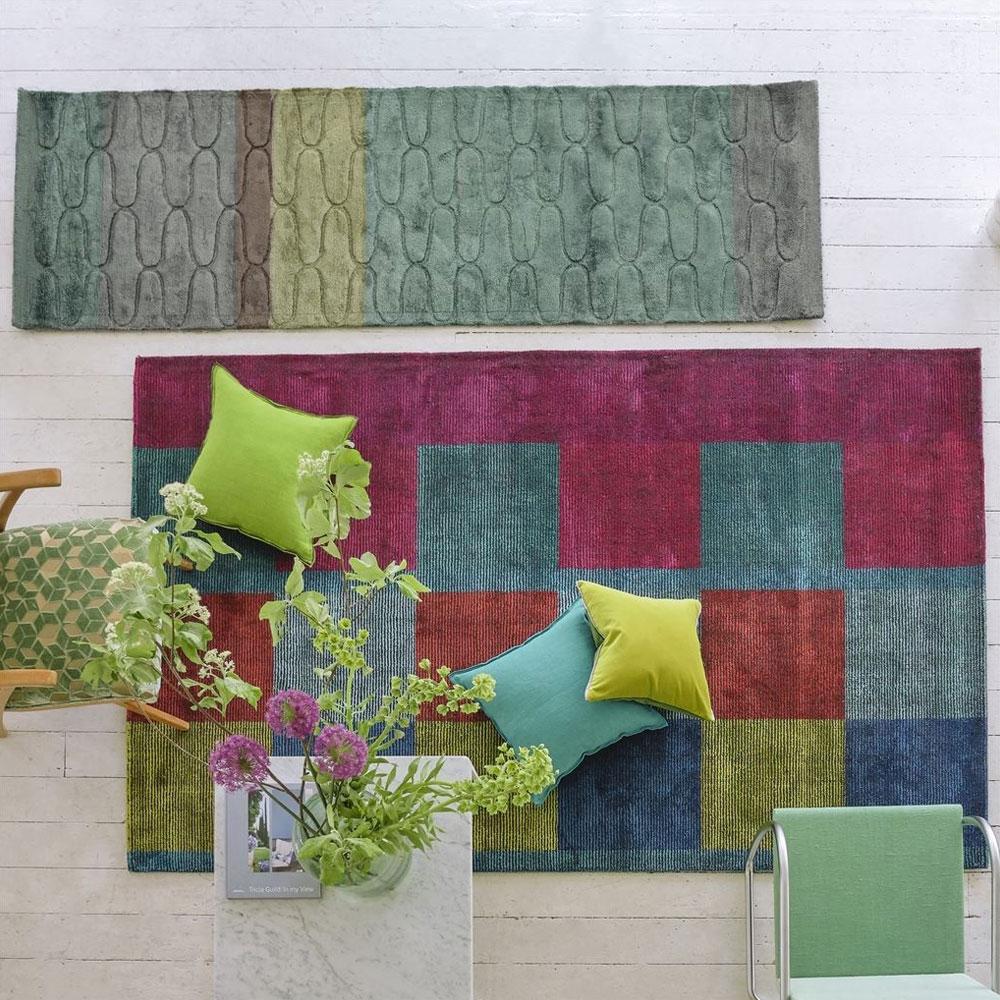 Designers Guild Teppich Sarang - Farbe Fuchsia
