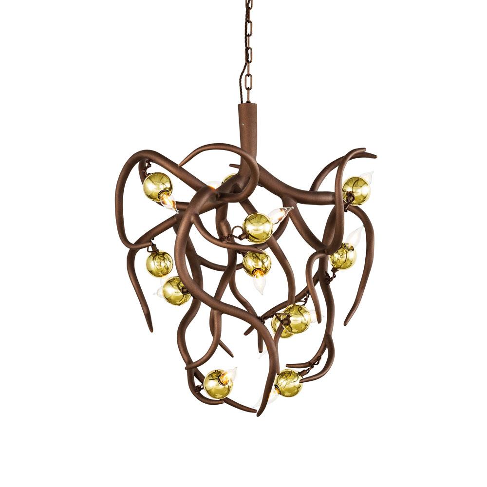 Eve Chandelier Conical Bronze - Lichtgloben Messing