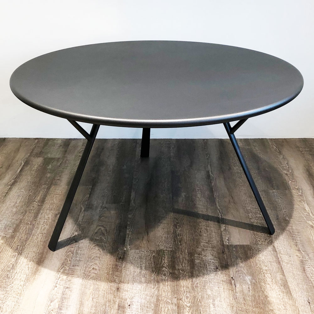 Fast Gartentisch - Radice Quadra rund - Farbe anthrazit