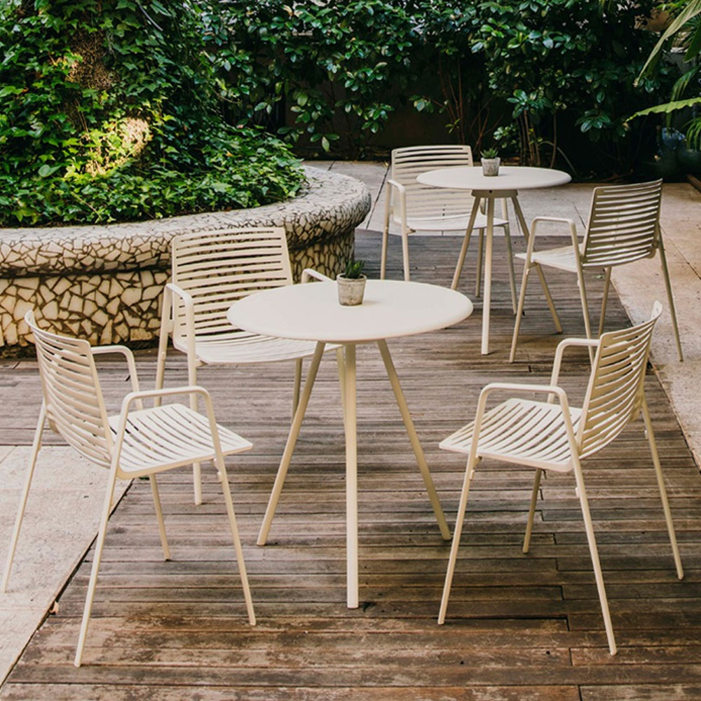 Zebra Armlehnstuhl & Tisch