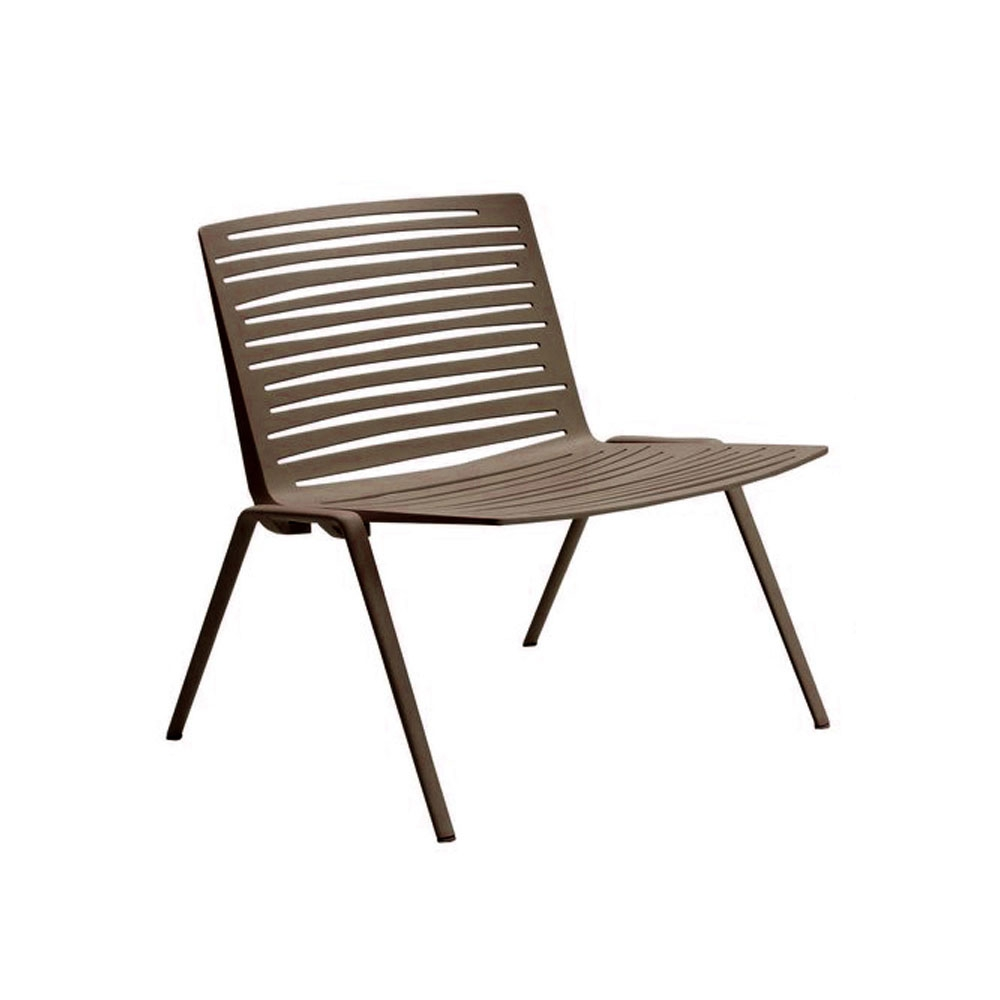 Zebra Lounge Stuhl - braun
