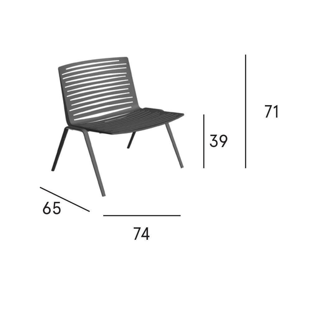 Zebra Lounge Stuhl - Maße