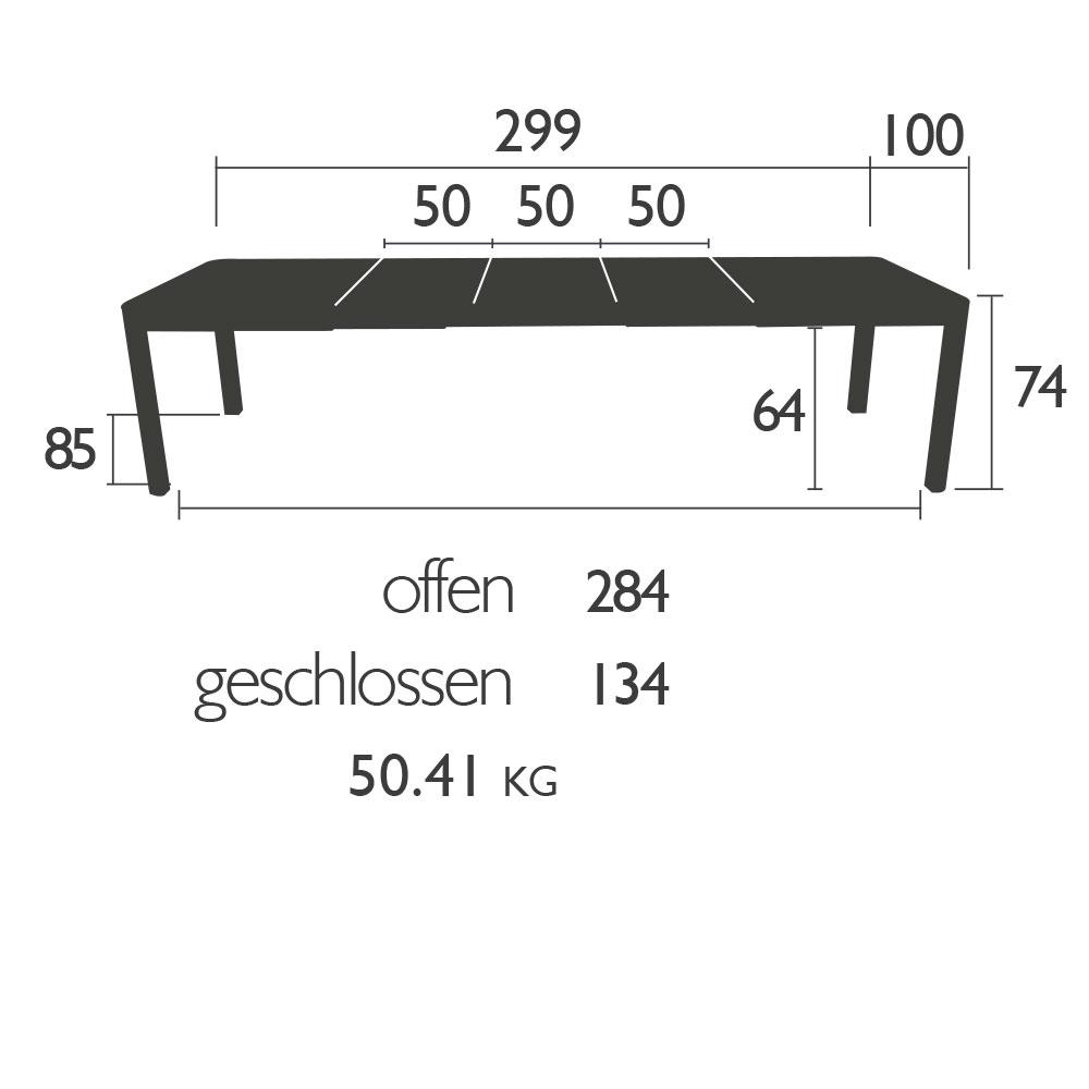 Fermob - Gartentisch Ribambelle XL - Abmessungen