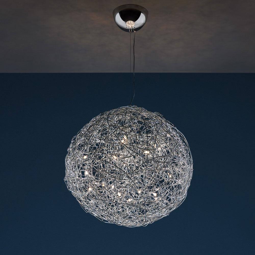 Pendelleuchte Fil de Fer LED - alu - Ø 70 cm