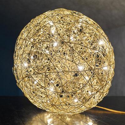 Bodenleuchte Fil de Fer F LED - gold
