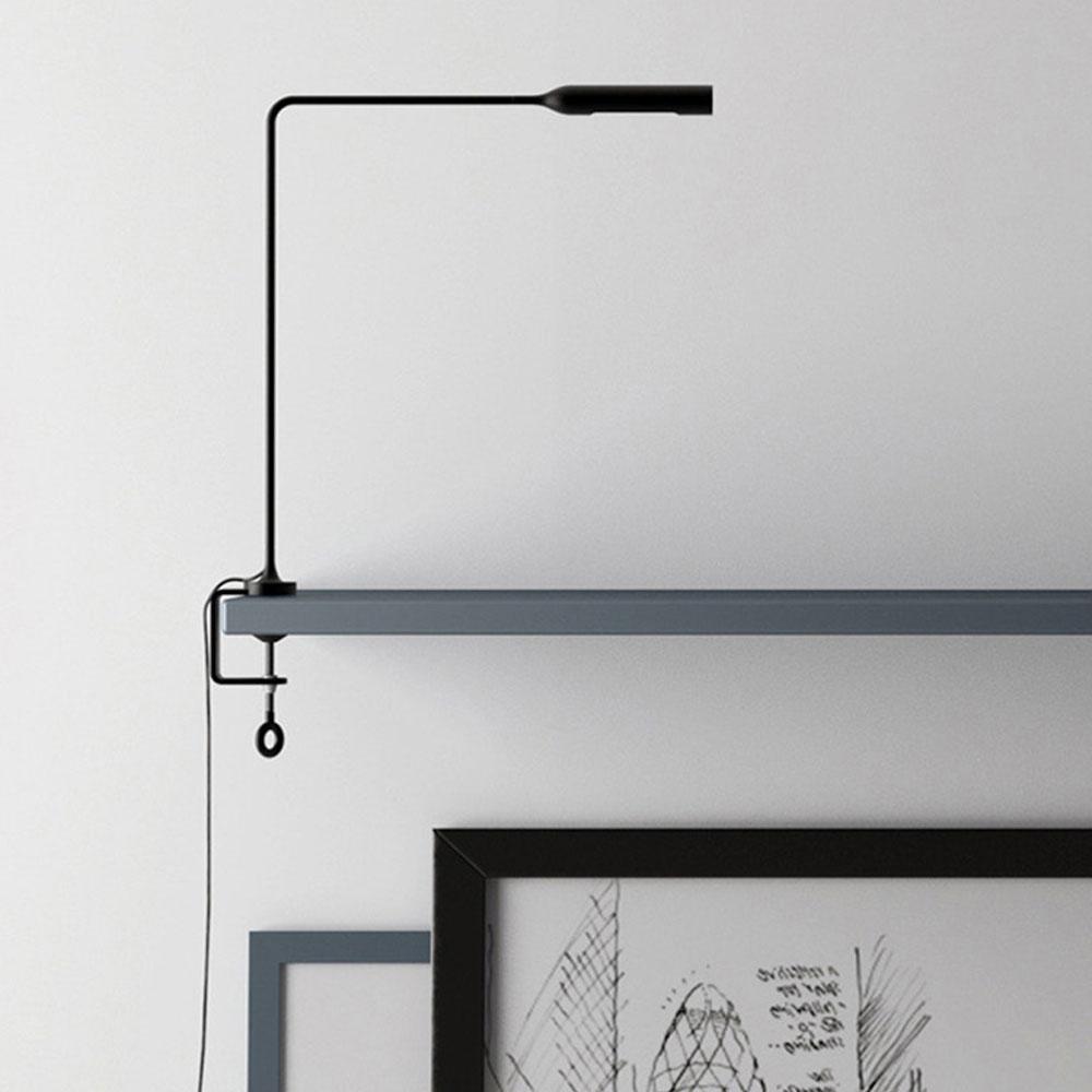 Lumina Klemmleuchte Flo Clamp - schwarz