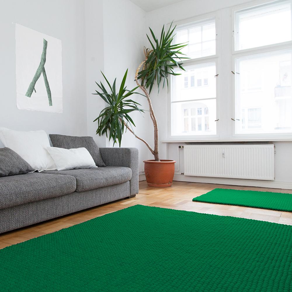filzkugelteppich einfarbig rechteckig quadratisch von. Black Bedroom Furniture Sets. Home Design Ideas