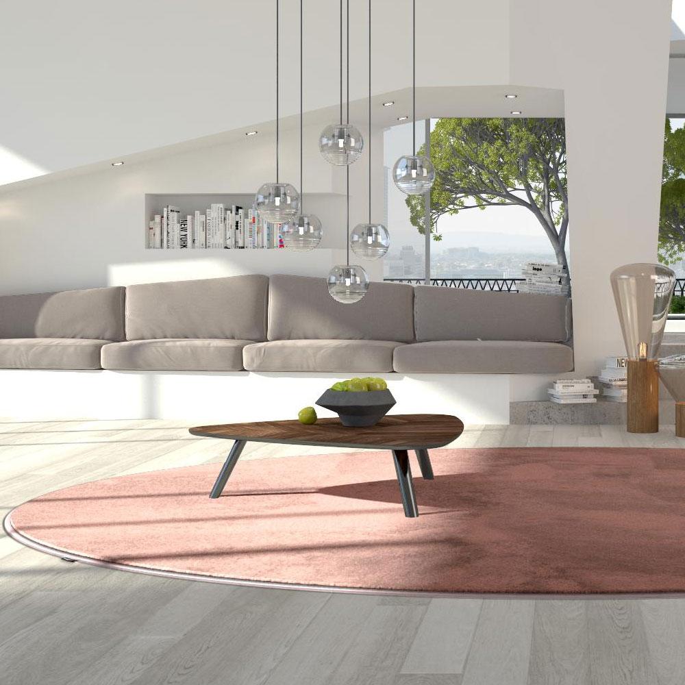 Object Carpet - Pure 1200 - Farbe 1215 Flamingo - Raumbild