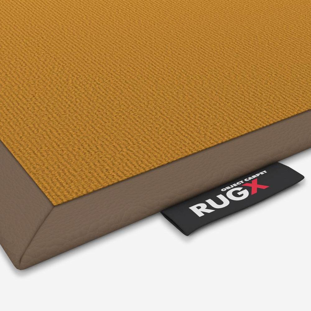 Object Carpet - Chicc 900 - Einfassung Leder 2,5 cm