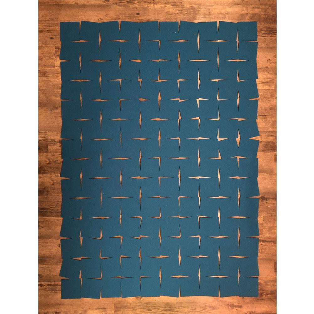 Hey Sign - Filzteppich Tiles - Farbe 39 Deep Water