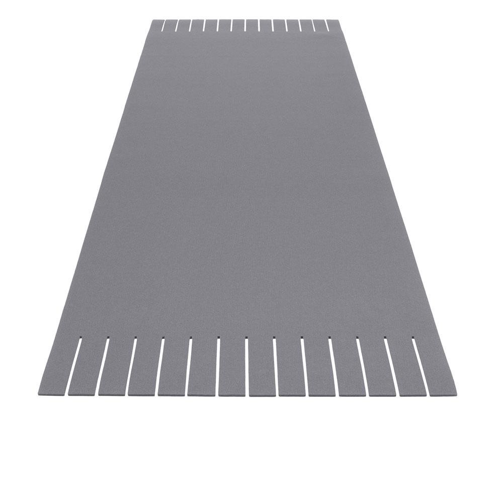 Teppich Franse - 16 Hellgrau