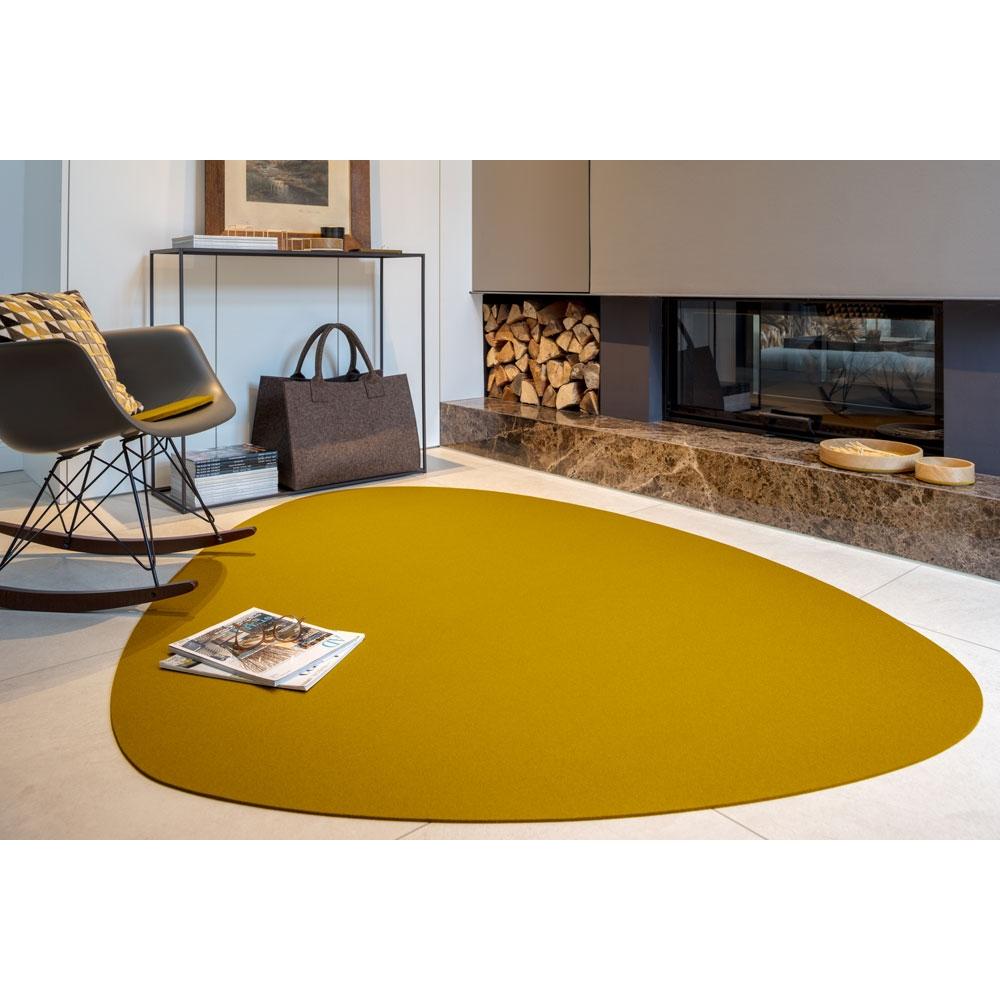 Hey Sign Filzteppich Stone - Farbe 96 Mustard