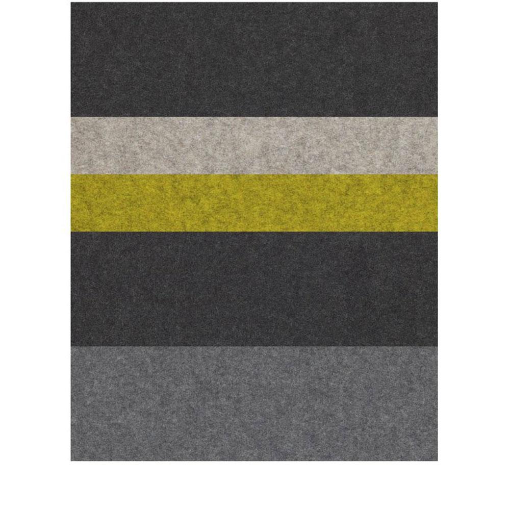 Filzteppich Stripe 4 - Farben 08 Graphit/ 07 Hellmeliert/ 71 Moos/ 08 Graphit/ 01 Anthrazit