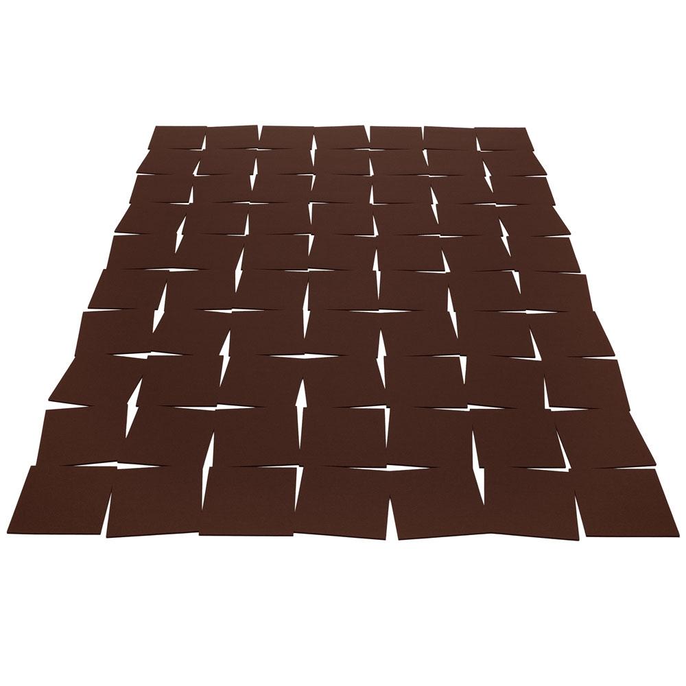 Hey Sign Teppich Tiles - Farbe 27 Schoko