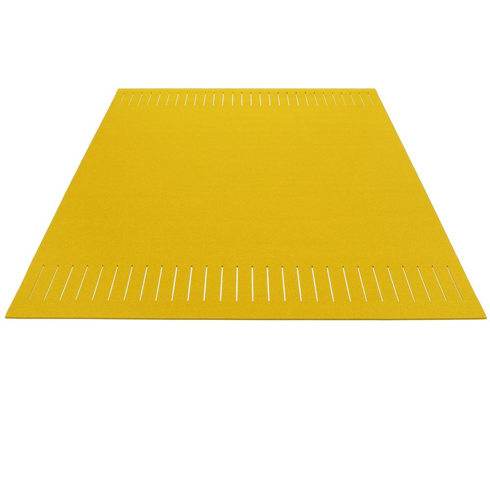 Hey Sign Teppich zweimal quer geschlitzt - Farbe 23 Curry