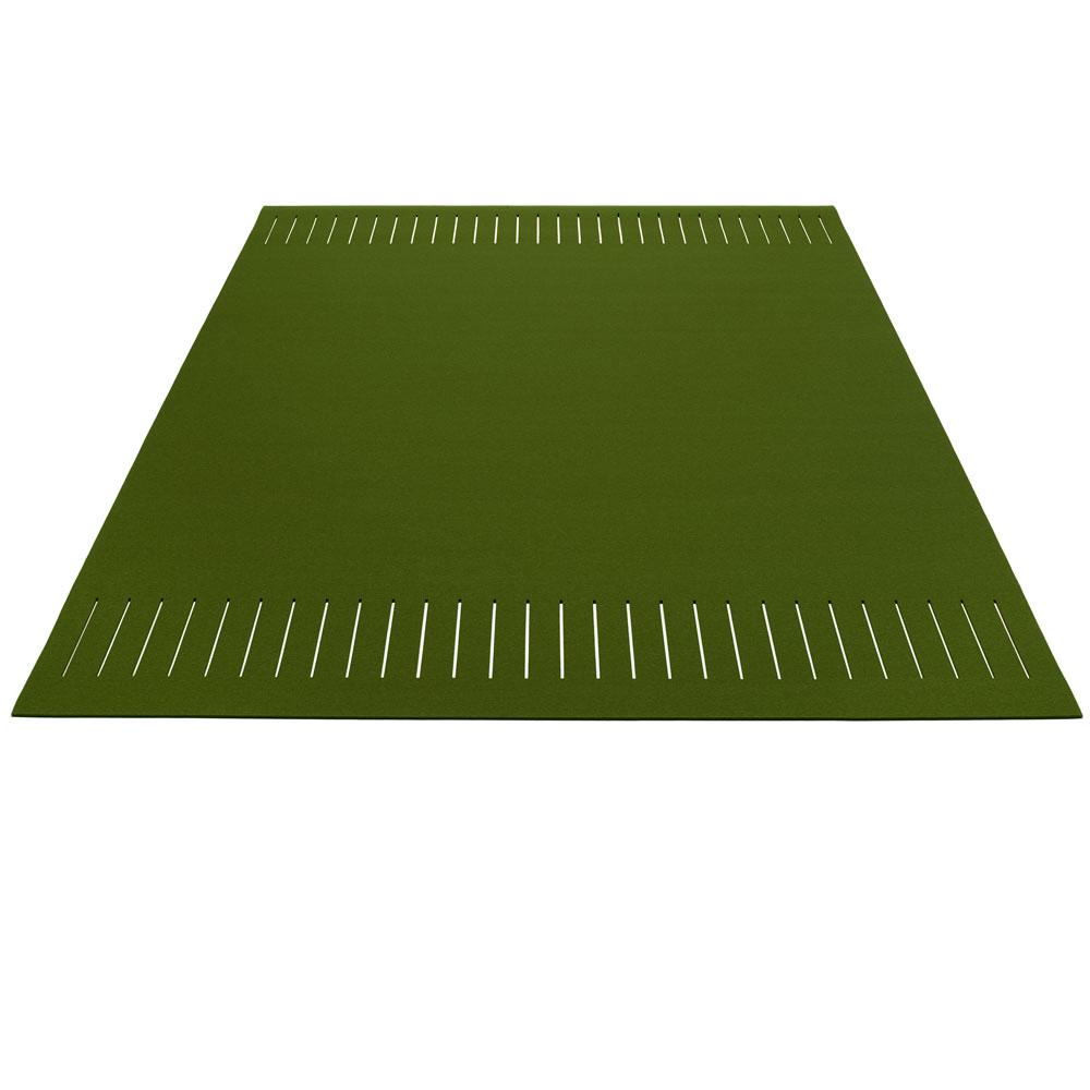 Hey Sign Teppich zweimal quer geschlitzt - Farbe 24 Oliv